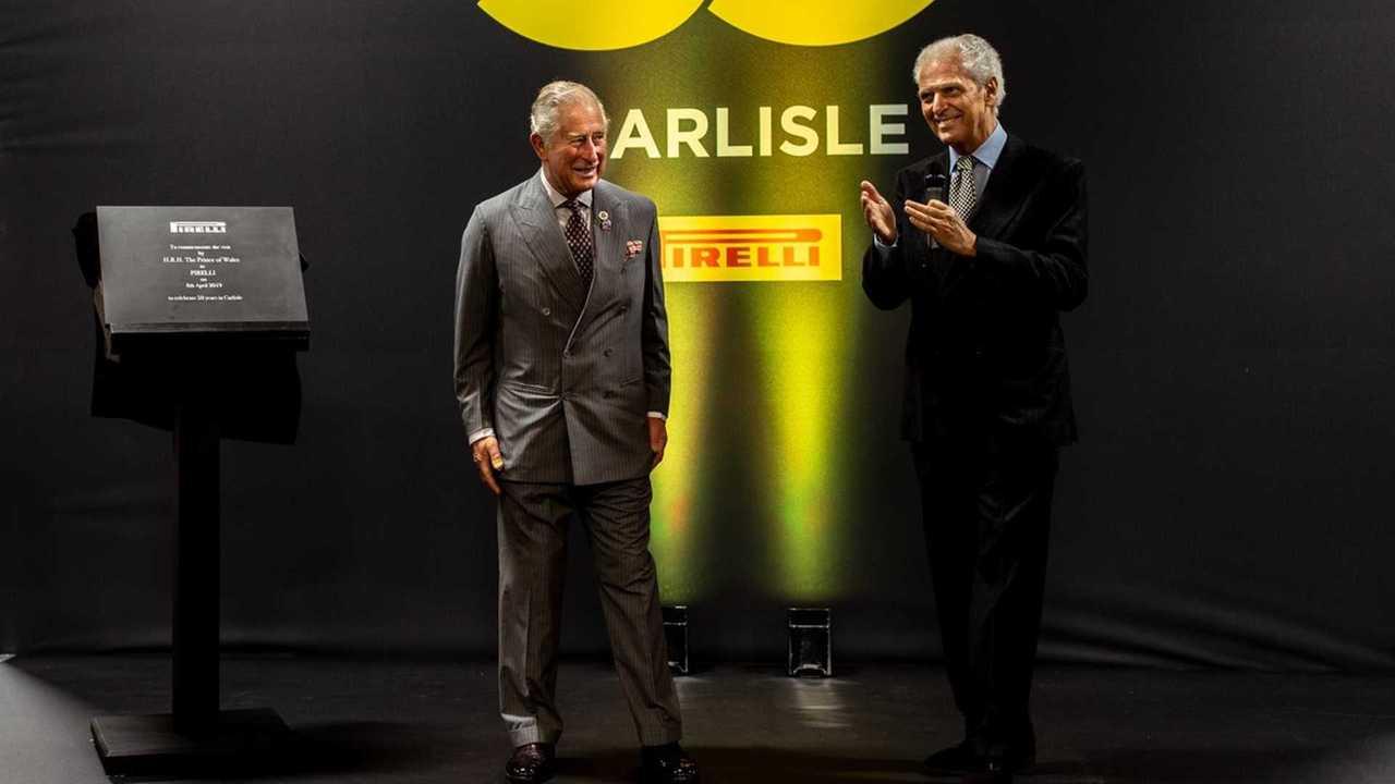 Prince Charles visits Pirelli's Carlisle factory