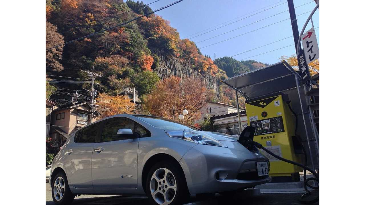 Nissan LEAF japan charging