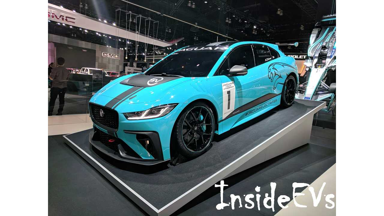 I-Pace Race Car In LA - Image Credit: InsideEVs/Tom Moloughney