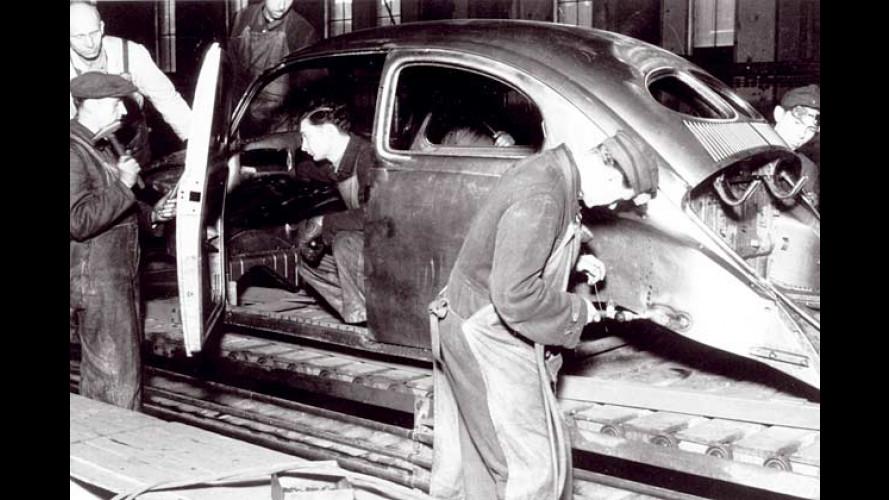 VW-Start vor 60 Jahren: Erster Käfer krabbelt vom Band