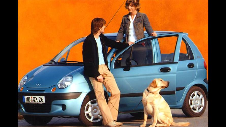 Daewoo Matiz: Mit dem Sondermodell Flirt 800 Euro sparen
