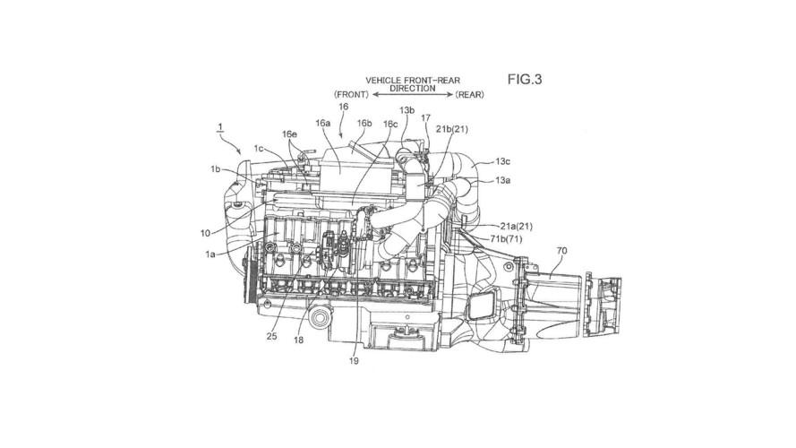 Mazda üç turbolu motor patenti