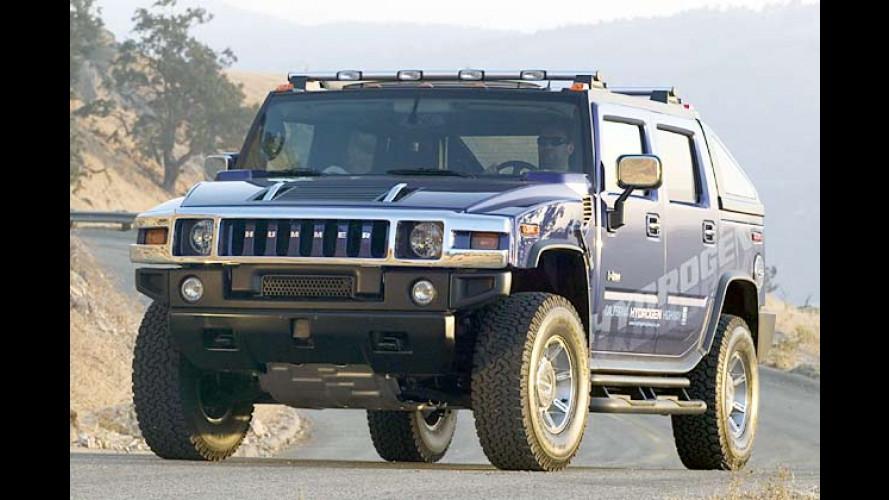 Arnies neuer Dienstwagen: Wasserstoff-Hummer H2H