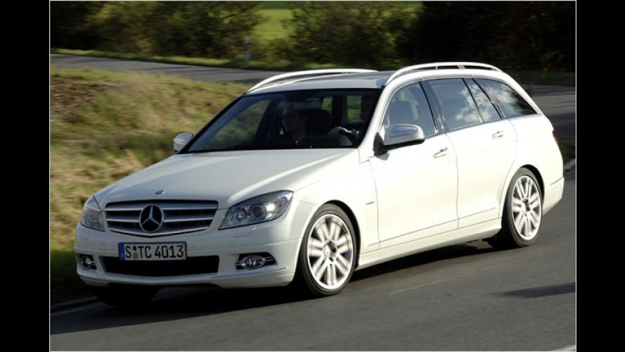 Kann was einstecken: Das T-Modell der Mercedes C-Klasse