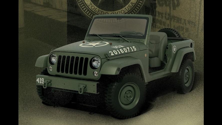 """Jeep Wrangler """"retrô"""" celebra 75 anos da marca no melhor estilo militar"""