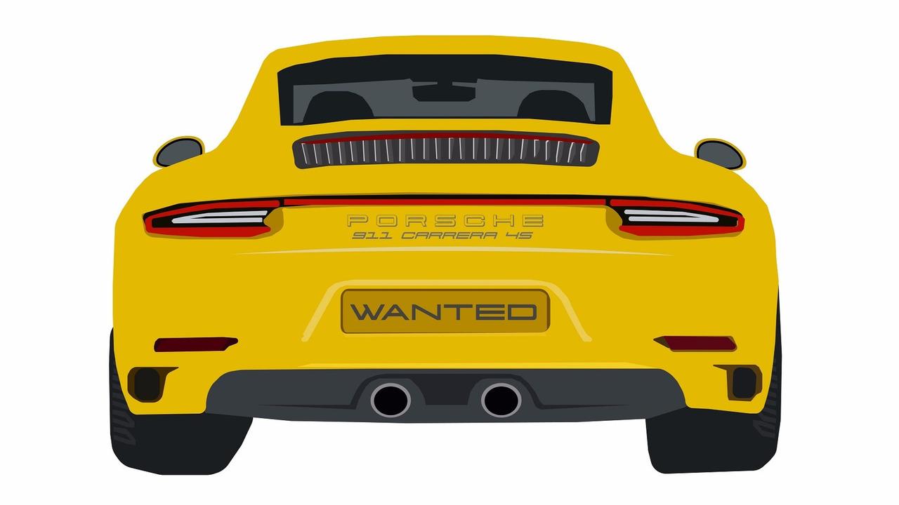 Porsche 911 C4S - most stolen car in UK