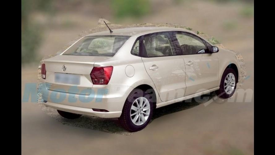 """Flagra: Volkswagen Ameo aparece """"limpo"""" pela primeira vez"""