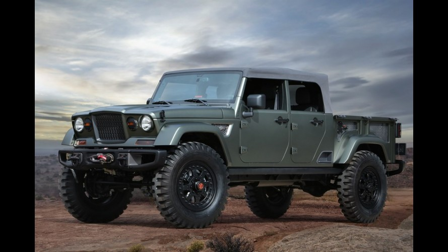 Jeep Crew Chief Concept antecipa picape derivada do Wrangler