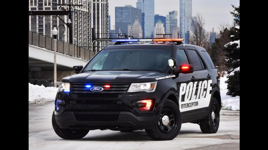 """Ford Police Interceptor 2016 fica mais ágil com modo """"perseguição"""""""