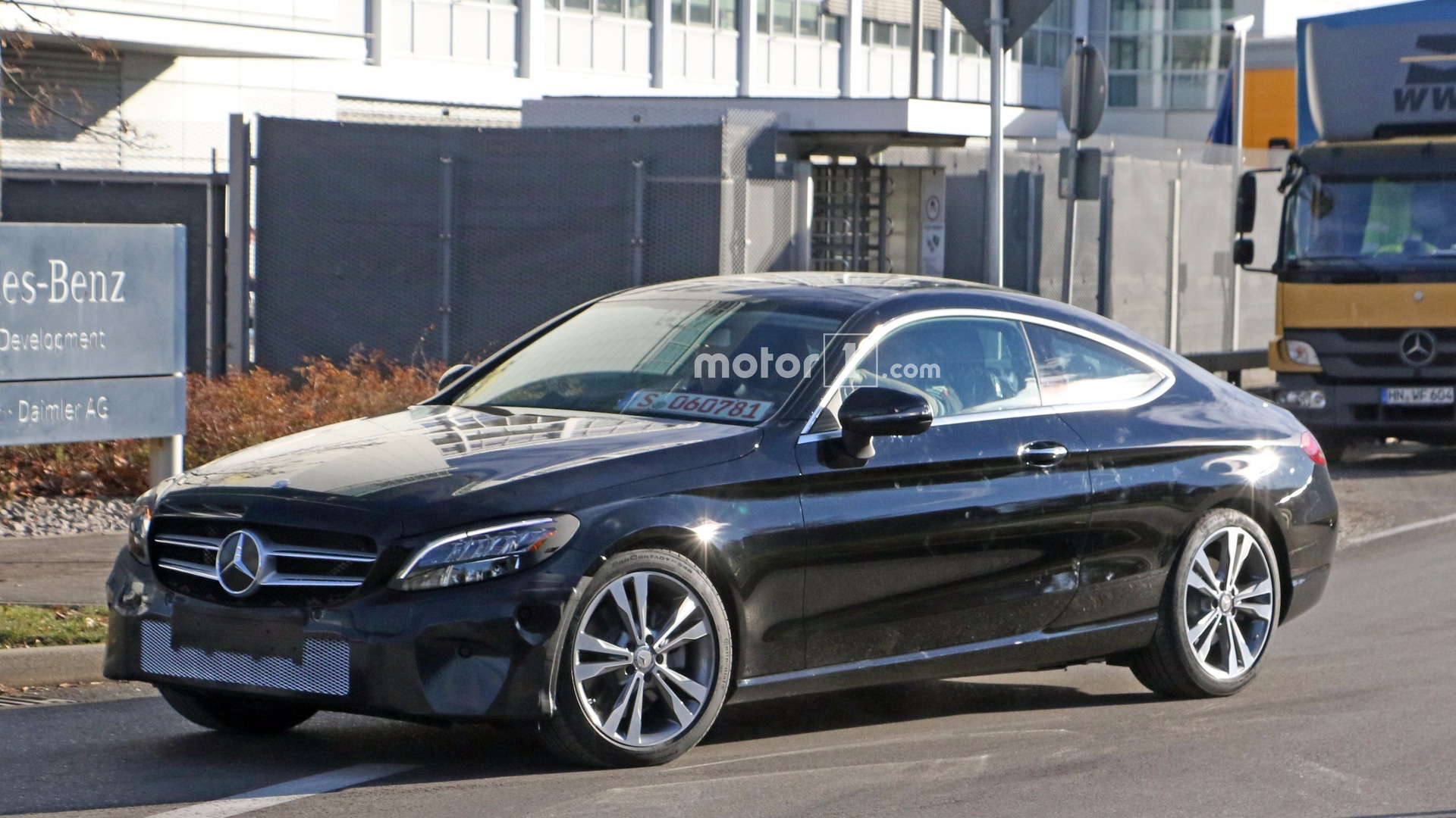 Mercedes Caught Testing C Class Coupe With Kinetic Energy Recovery System