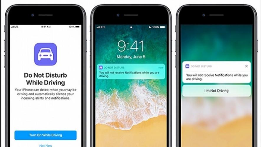 Apple iOS 11, una funzione blocca le notifiche mentre si guida