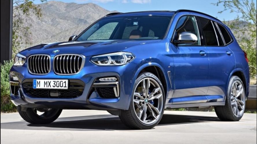 Nuova BMW X3, più potenza e tecnologia