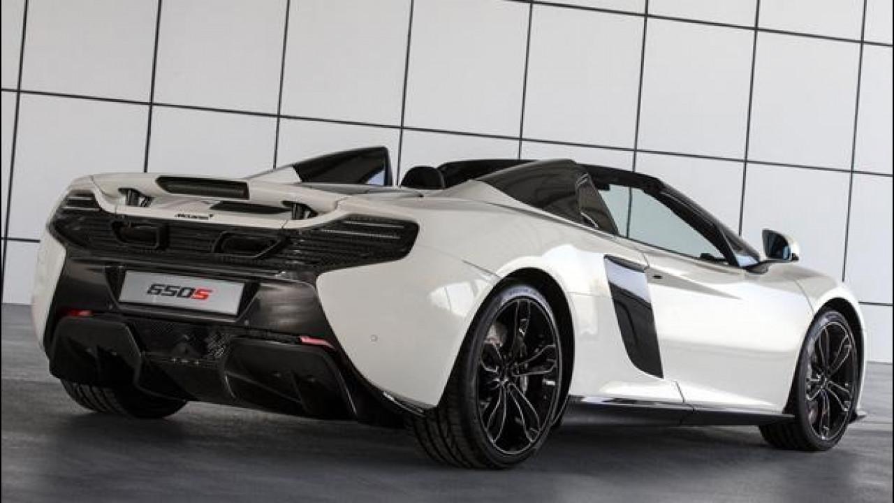 [Copertina] - McLaren Al Sahara 79, la 650S Spider tinta con l'oro 24 carati
