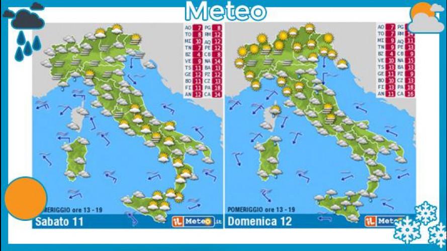 Meteo del fine settimana 11 e 12 gennaio