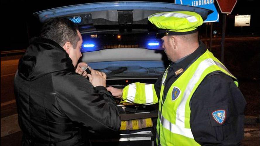 Alcol alla guida, 1 su 20 è ubriaco al volante