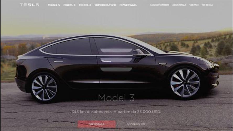 Tesla Model 3, si prenota così