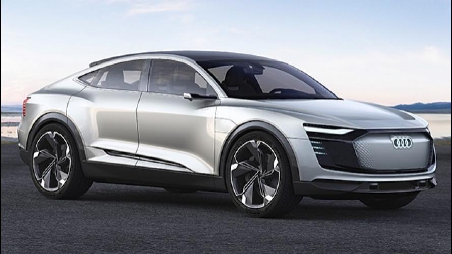 Audi e-tron Sportback concept, il SUV-coupé a zero emissioni [VIDEO]