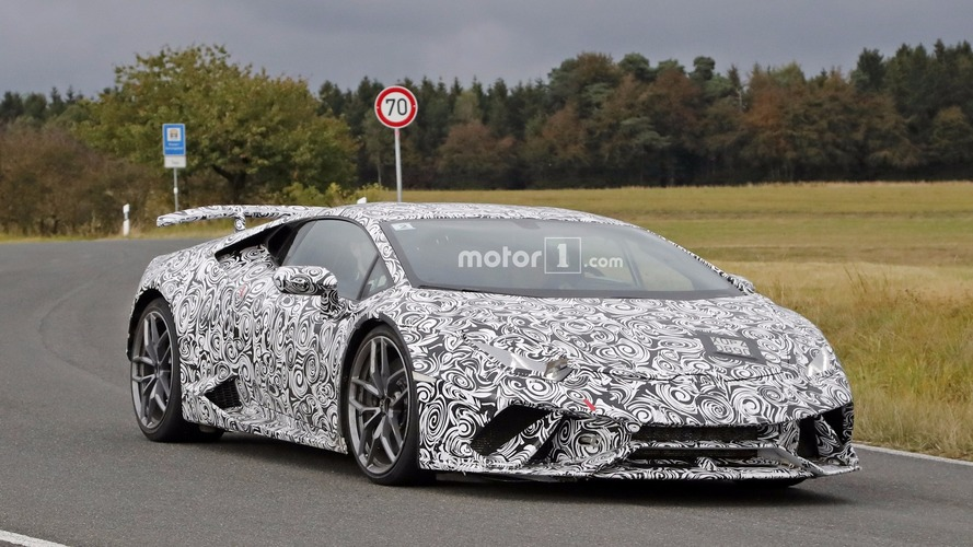 Photos espion - La Lamborghini Huracán Superleggera poursuit sa mise au point