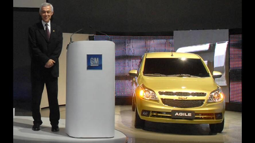Chevrolet Agile é mostrado em evento do Centro Tecnológico da GM no Brasil