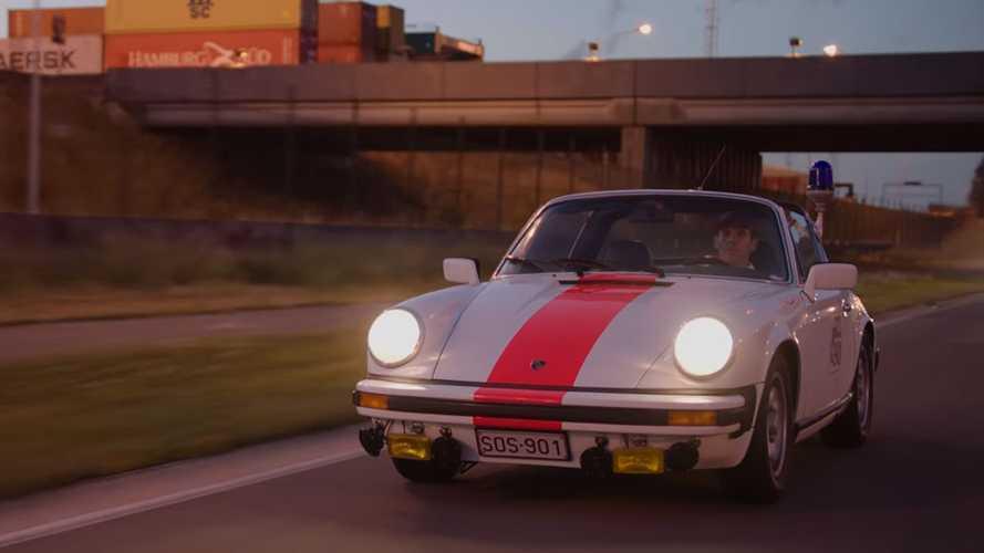 1976 Porsche 911 Targa polis aracını daha önce görmüş müydünüz?
