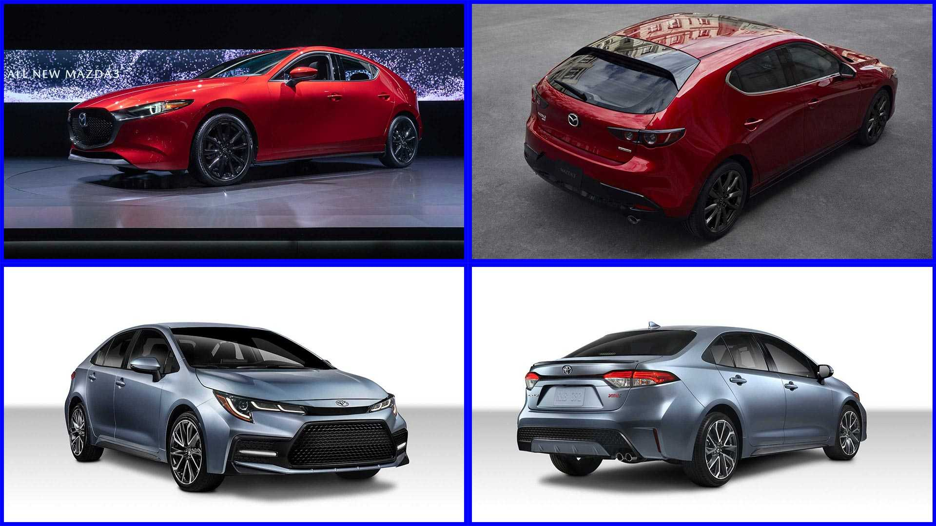 2020 Toyota Corolla Versus 2019 Mazda Mazda3 How Do They