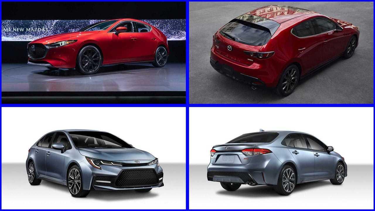 2019 Mazda3 and 2020 Corolla comparison