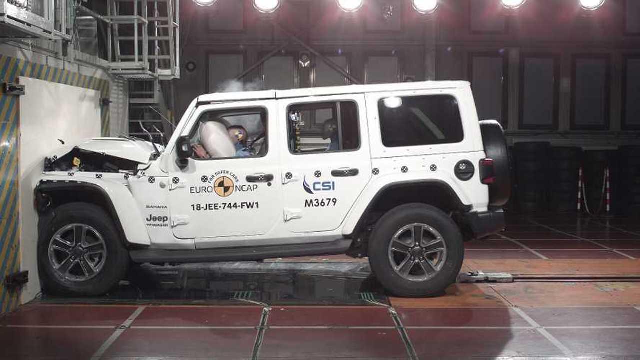 Új Jeep Wrangler, az Euro NCAP összeomlási tesztje