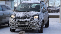 Fiat Panda mule spy photos