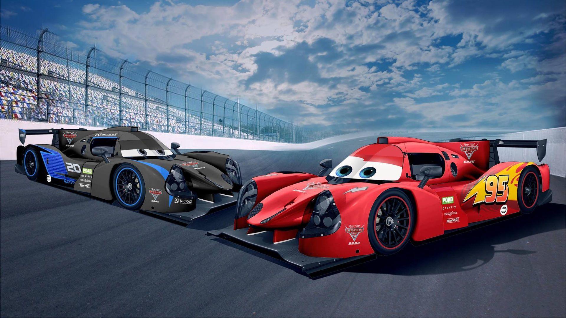 Lmp3 Race Cars Get Lightning Mcqueen Jackson Storm Liveries