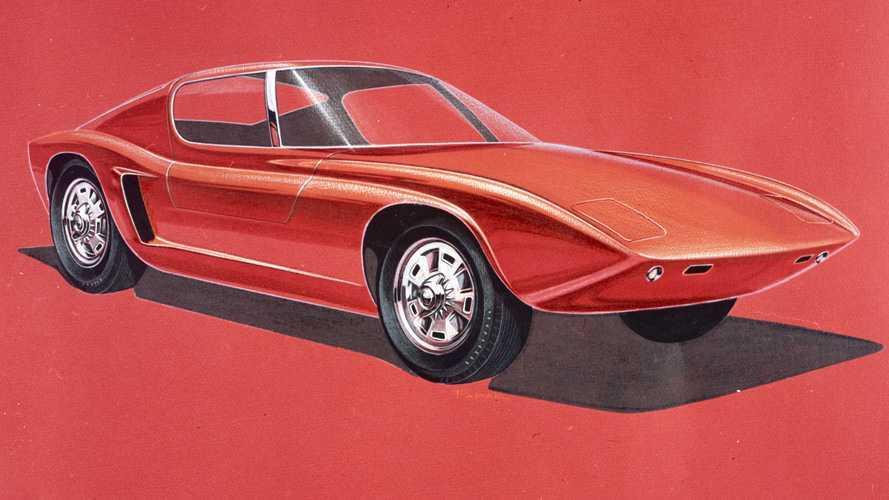 1963 Ford GT40 design sketch