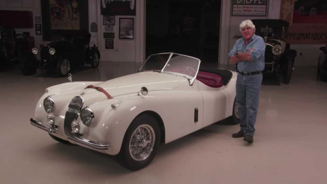 Jay Leno Relives his childhood in a Jaguar XK120