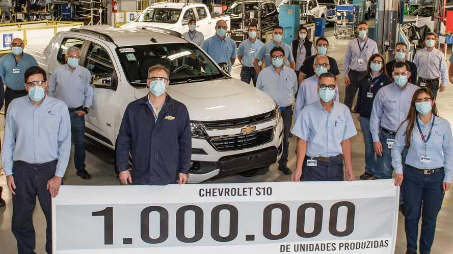 Chevrolet S10 completa 25 anos de Brasil com 1 milhão de unidades produzidas