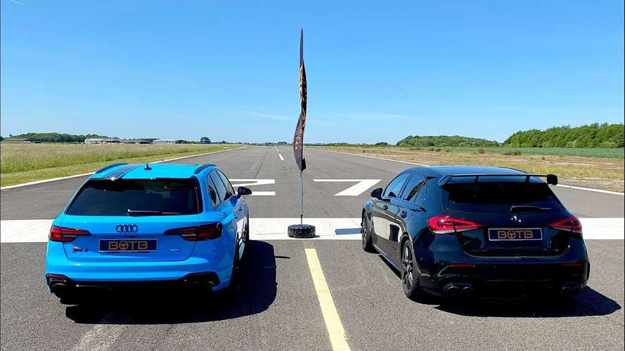 Mercedes-AMG A45 S drag races Audi RS4 Avant to impressive results