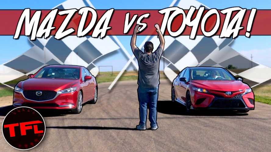 2020 Toyota Camry TRD vs Mazda6 Drag Race: V6 vs Turbo Inline-4