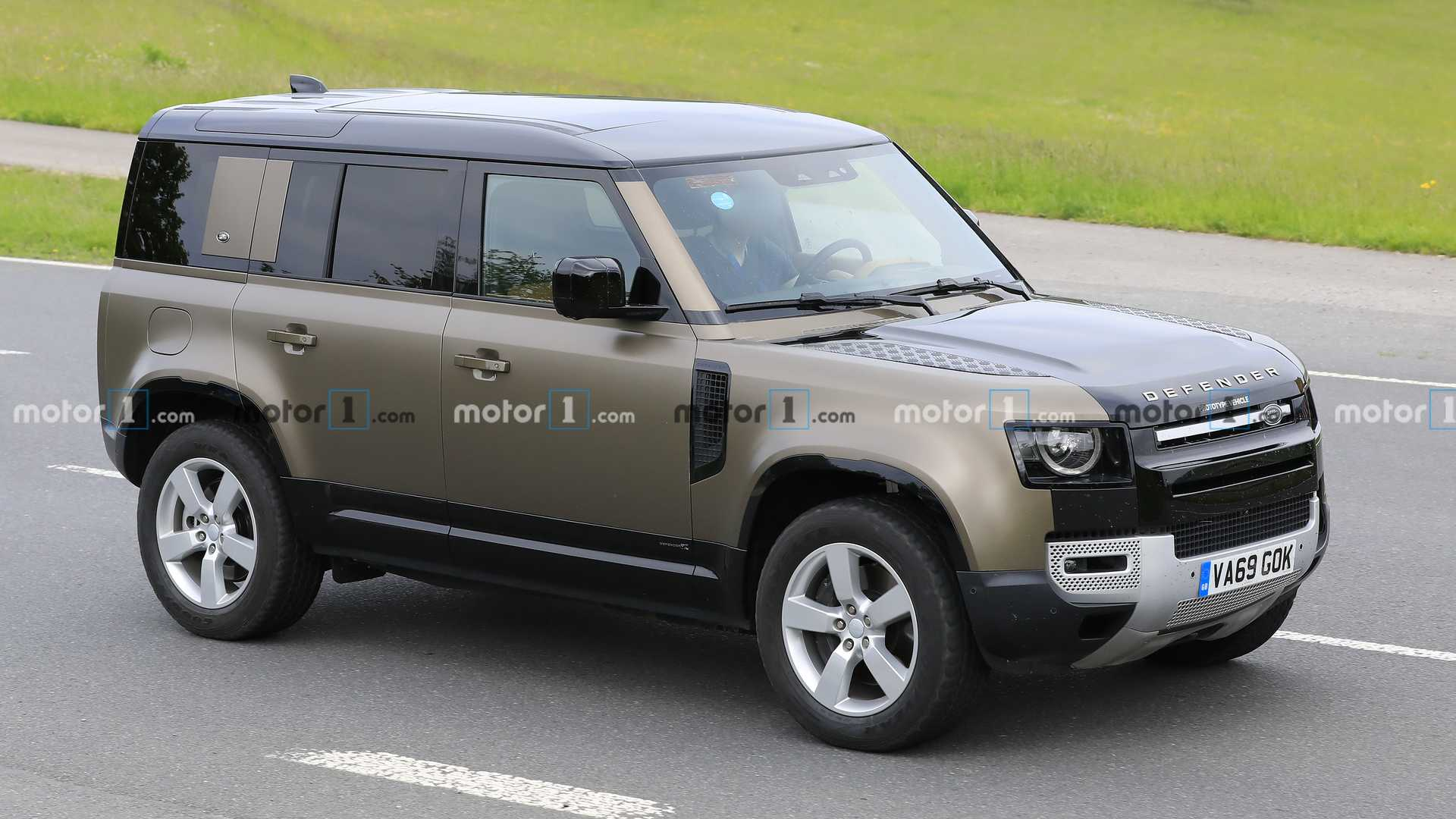 Land Rover Defender V8 Spied Testing On The Road In Europe