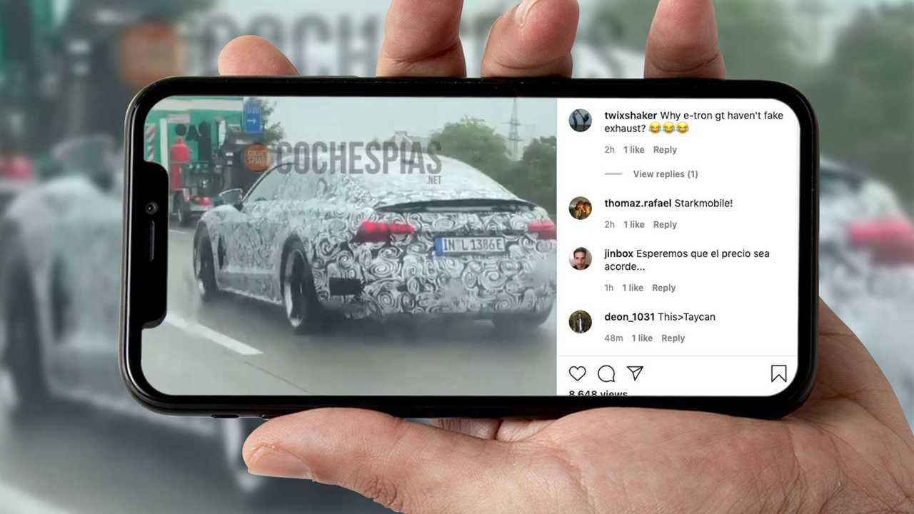 Audi E-Tron GT Spy Video