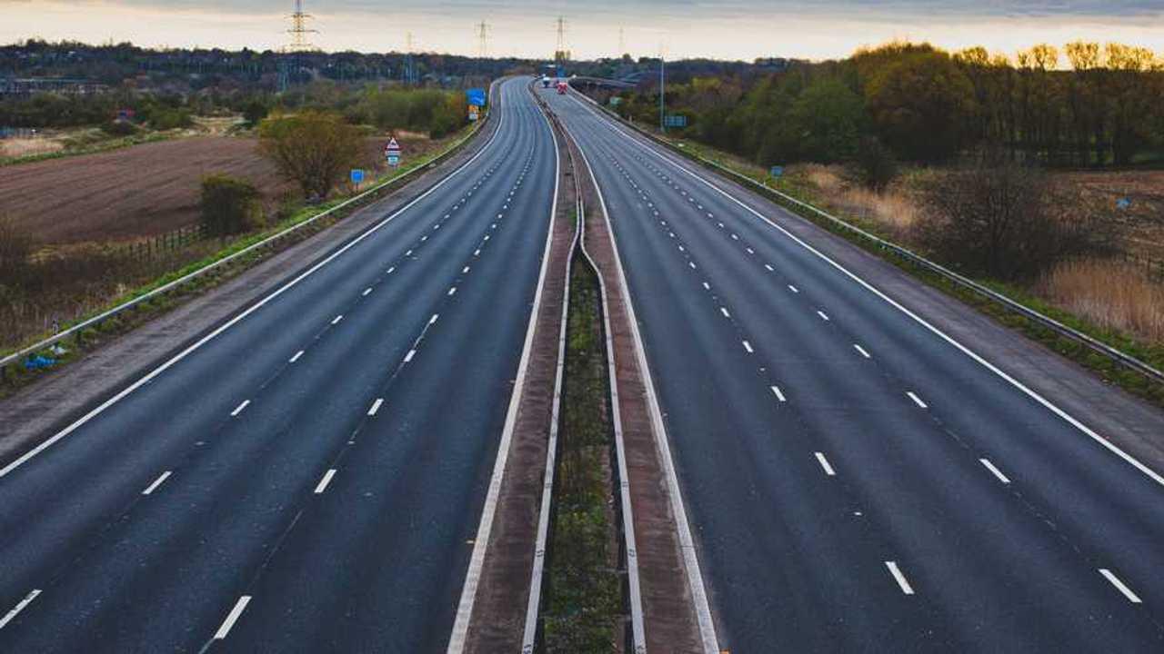Empty M56 motorway in Cheshire England