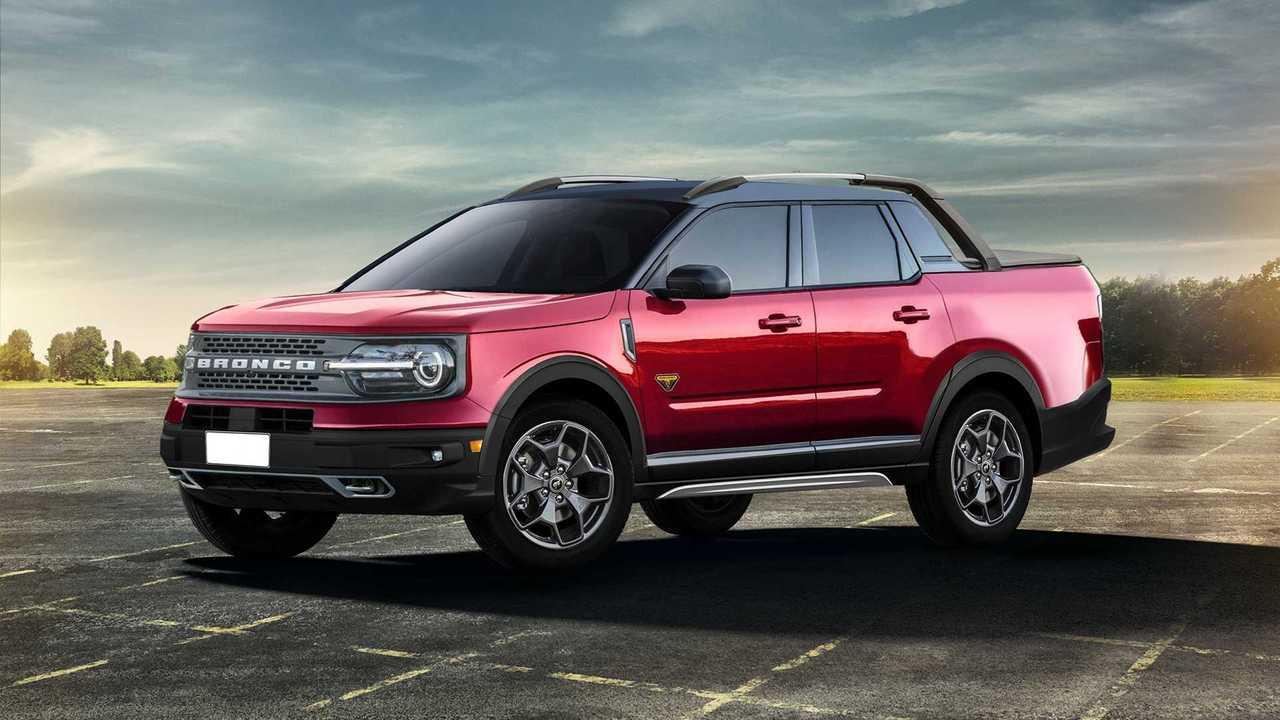 Ford Bronco Sport Pickup Render'ları