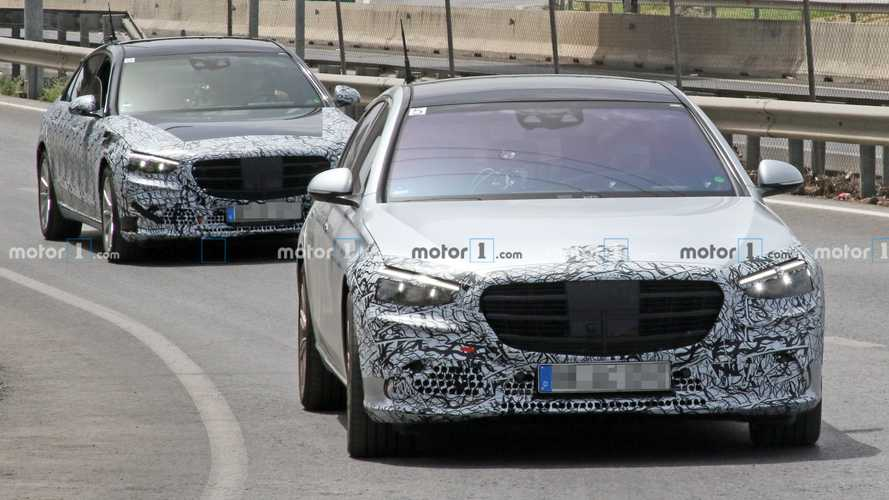 2021 Mercedes S-Class spied with less camouflage