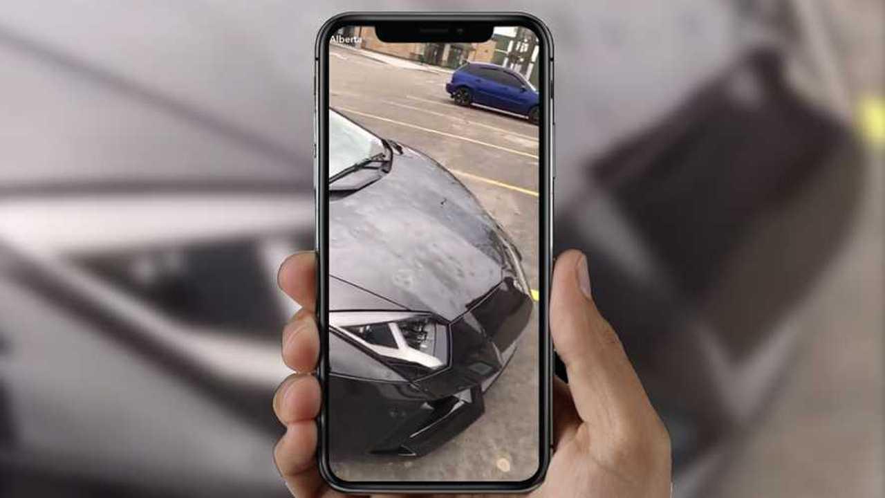 Lamborghini Aventador Hail Damage