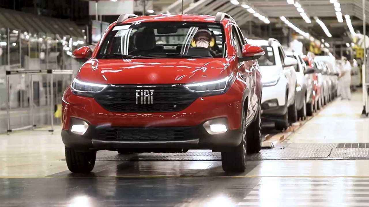 Fiat Strada 2021 - Produção