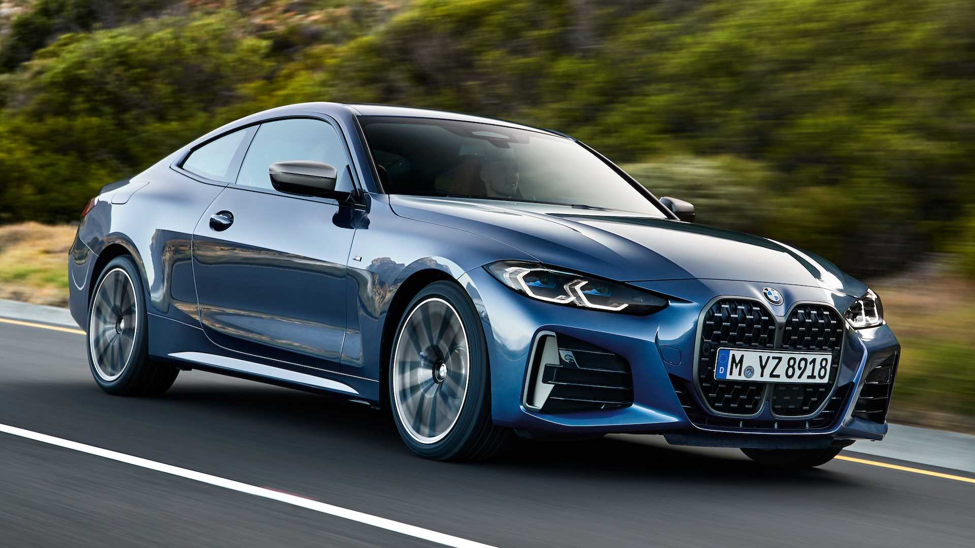 2021 bmw 4 series debuts with big kidney grille new mild