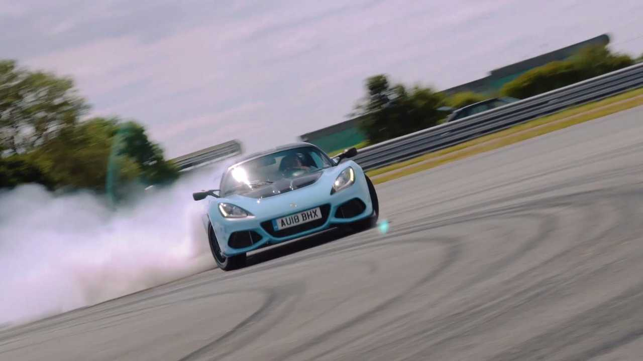 Video: Pair of Lotuses burn rubber to celebrate 70th anniversary