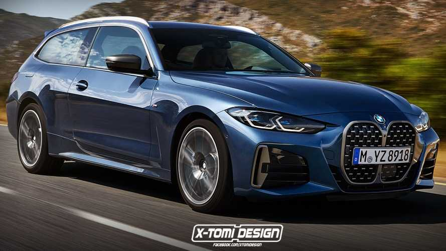 BMW 4 Series shooting brake rendering ignores the grille