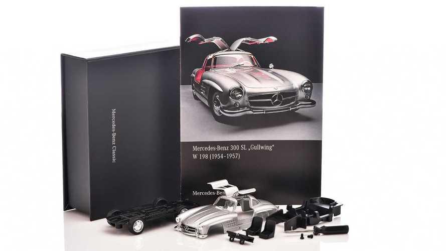 """Un modellino per la Mercedes 300 SL """"Ali di Gabbiano"""" in scala 1:38"""