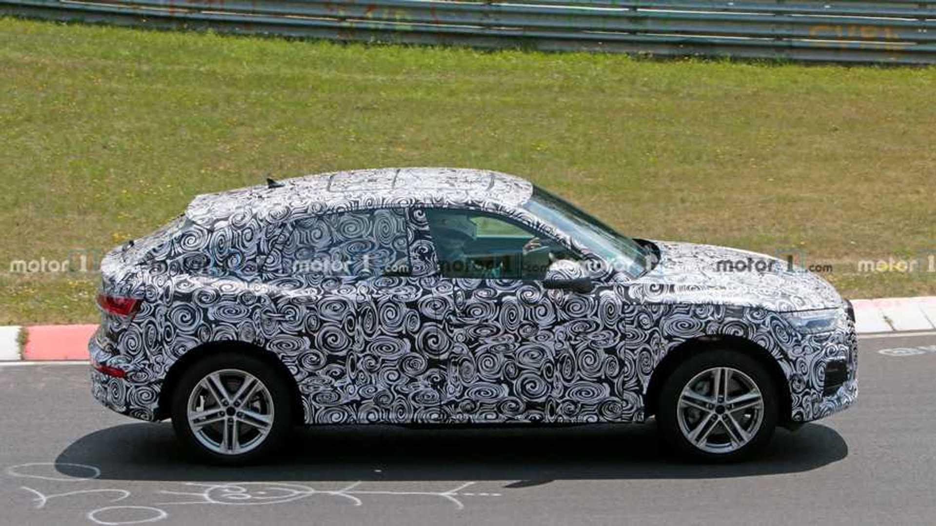 2020 - [Audi] Q5 Sportback - Page 7 2021-audi-q5-sportback-spy-photo-side