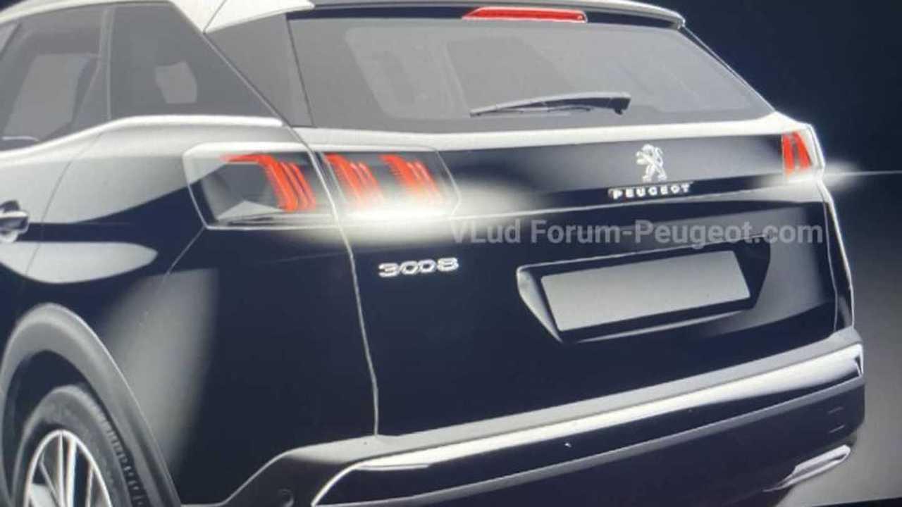 Peugeot 3008 restylisé - images fuites