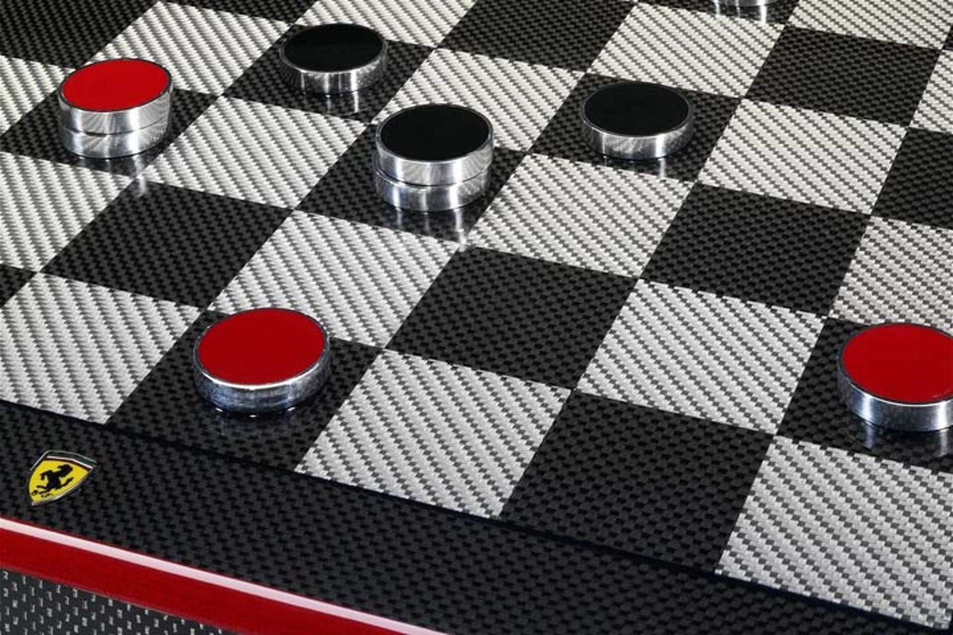 Make Your Move on this Carbon Fiber Ferrari Chess Set