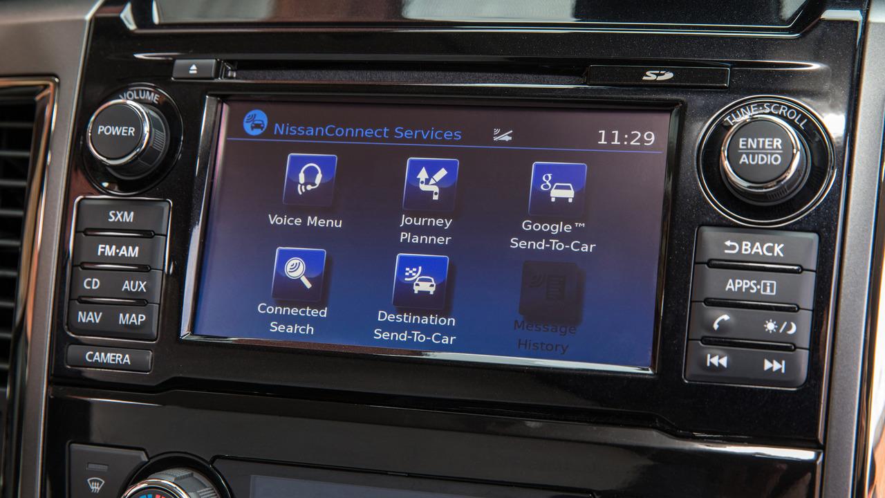 2017 Nissan Titan infotainment screen