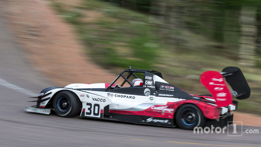 Romain Dumas on provisional pole at Pikes Peak!